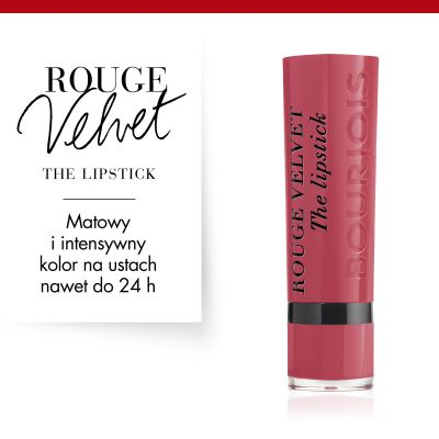 Pomadka do ust Rouge Velvet Bourjois - 03 Hyppink Chic