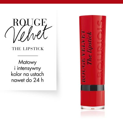 Pomadka do ust Rouge Velvet Bourjois - 08 Rubi's Cute