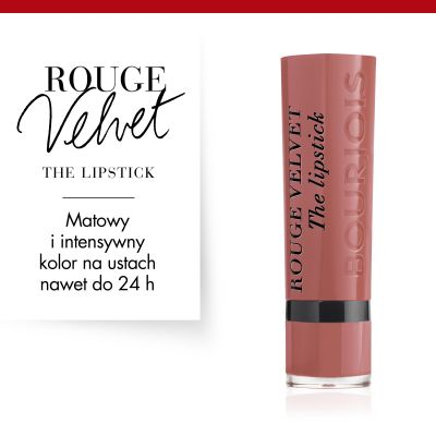 Pomadka do ust Rouge Velvet Bourjois - 13 Nohalicious