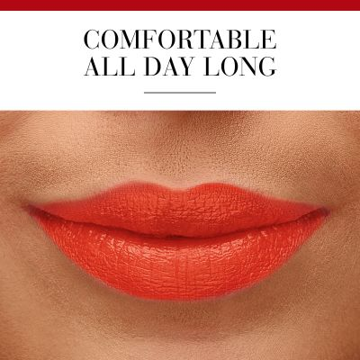 A highly saturated red with a hint of orange pep up all looks